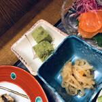 れもん - 小鉢とわらび餅
