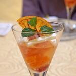 トゥ・ラ・ジョア - ブラッドオレンジのデザート