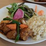 自然野菜レストラン 駒込 ナーリッシュ - ナーリッシュセット(ベジスブタ)2180円(税込)
