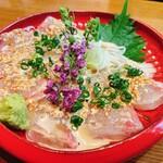一粋 - 桜鯛胡麻漬け刺身