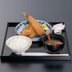 和食 花の茶屋 - 懐石の料理長が作るサクサクふわふわの熱海地魚フライ膳 1600円(税込)
