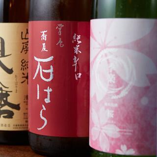 日本各地の地酒が自慢◎「石はら」オリジナルの銘柄も好評です