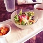 14931789 - 前菜のサラダとスープ