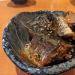 寿司・居酒屋 海福 - お通し 鯖の煮付け