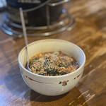 七厘亭 - 料理写真:テグタンラーメン卵入りのハーフ