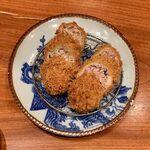 149316220 - 春のてごねかつ盛合せ定食 ¥2,000 の春のてごねかつ、特製にんにく入りてごねかつ