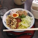 寅真らーめん - 夜限定焼きチーズバイカラ(大盛)