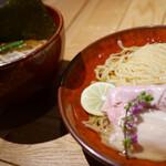味噌らーめん 柿田川 ひばり - 昆布水の味噌つけ麺