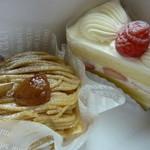 14933652 - ショートケーキとモンブラン