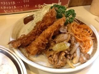 キッチン南海 上井草店 - イカフライしょうが焼き再び