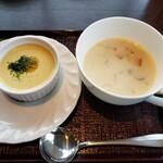 ラビスタ函館ベイ - 雲丹茶碗蒸し&クラムチャウダー2021.04.05