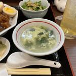 登竜門 - 玉子スープ。 美味し。