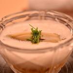 銀座 小十 - アワビ素麵