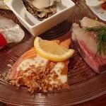 イタリアンバル UOKIN - ぶり、サーモン、真鯛