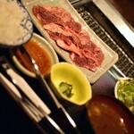 山形山 月島店 - 山形牛焼肉定食・100g(1,760円)2021年4月