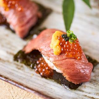 <肉寿司>食べた瞬間口の中が幸せになります!