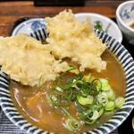 饂飩とお酒 からほり きぬ川 - ミニカレー丼+とり天