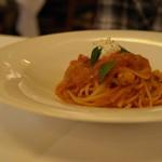 14939531 - ナスとリコッタチーズのトマトパスタ