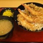 天丼専門店 てんき - 天丼500円 ※味噌汁付