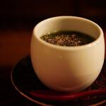 交番通り四十 - アオサの茶碗蒸し