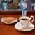カフェあおばと - ドリンク写真:あおばとブレンド(有機栽培)と鳩サブレー