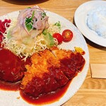 Tonkatsuyoushokunomiseitiban - ハンバーグとロースカツ