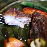 西洋割烹 かるにえ - 鶏モモ肉のロースト・アップ