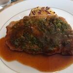 シェ・キノ - グランランチ、豚肉の香草焼き