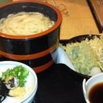 14942395 - 自分の釜揚げ天ぷらです