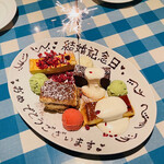 torattoriamakko - 結婚記念日のデザートプレート