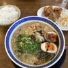 ラーメン食堂 一生懸麺 - 料理写真:「博多」黒虎とんこつラーメン(唐揚げ3個とライス小セット)