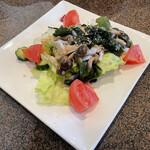カフェプラザオークラ - 料理写真:キノコとワカメのサラダ