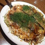 14943394 - 広島焼き ランチセットB イカ天フライ+チーズ
