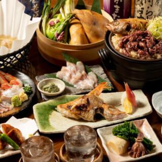 最高級『のどぐろ』をコース料理で様々な調理法で楽しめる!