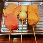 龍馬 - 串カツ(紅生姜・うずら・豚肉)