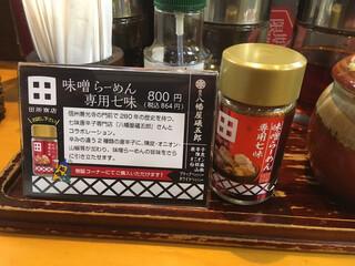 蔵出し味噌 麺場 田所商店 - 店内で販売しているらしい。半額だったら買うけど。