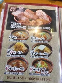 蔵出し味噌 麺場 田所商店 - チャーシュー自慢のようです。