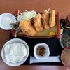 漁師料理 かなや - 料理写真:かなやの大アジフライ+揚定食セット 1925円