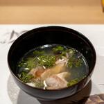 うを徳 - 2021.4 網走キンキと奈良花山椒の潮汁ポン酢仕立て