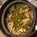 うを徳 - 2021.4 大原サザエ合馬筍奈良花山椒の炊き込みご飯