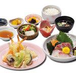 和食 さつき - 天ぷらと刺身御膳