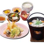 和食 さつき - 天ぷらとだご汁定食