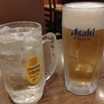 鍛冶屋 文蔵 - 生ビール(スーパードライ 429円 )角ハイ 209円