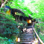 黒茶屋 - 入り口の階段