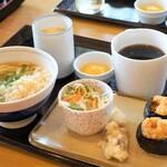 釜揚げうどん 小塚屋 - 料理写真:天むすモーニング600円