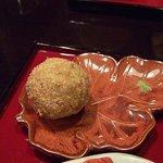 茶カフェ 上辻園 - 里芋のお団子