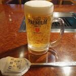 焼肉 白雲台 - 生ビール