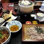 14951592 - せいろ蒸し松茸ご飯と きのこ天ざる膳