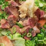 活いか ふぐ 英二楼 - 牛タン おろしポン酢サラダ