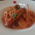 ピッツェリア ルッチ - 渡り蟹のトマトクリームソース 1,350円(税別)